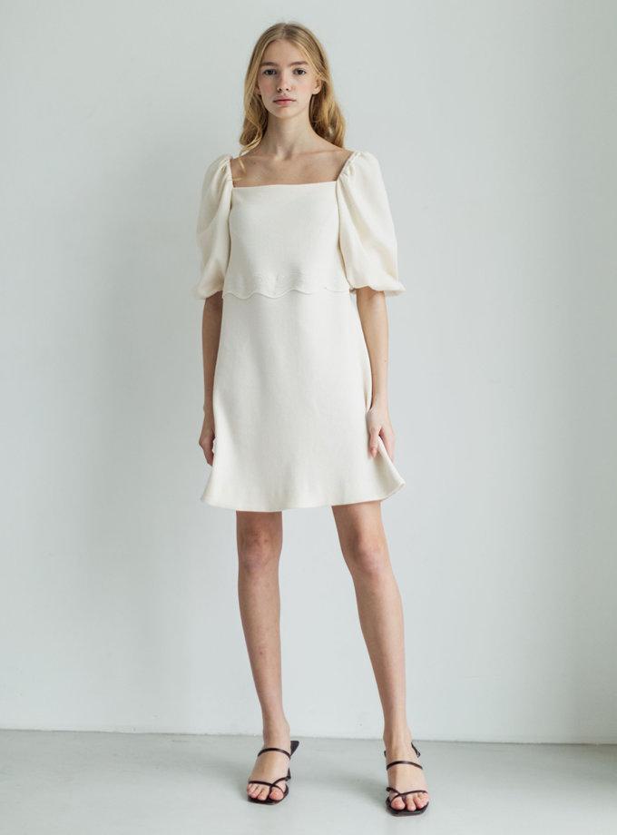 Мягкое платье из органического хлопка PURE_PO_SS21_9-2, фото 1 - в интернет магазине KAPSULA
