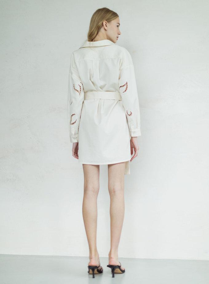 Платье с вышивкой из органического хлопка PURE_PO_SS21_12, фото 1 - в интернет магазине KAPSULA