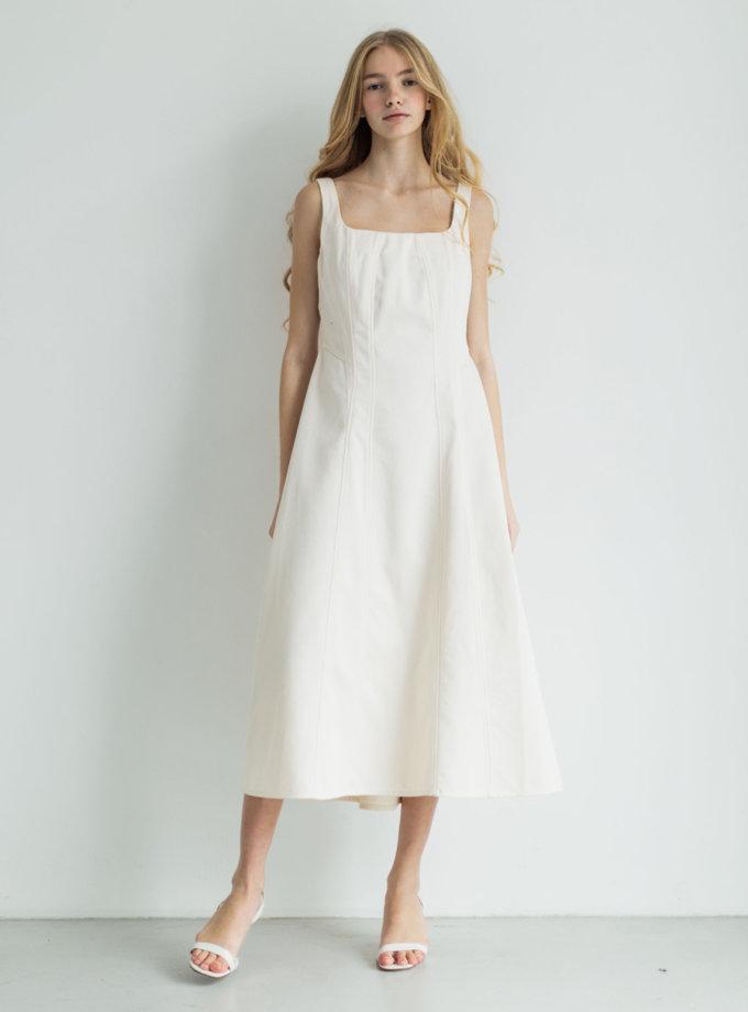 Корсетное платье из органического хлопка PURE_PO_SS21_13, фото 1 - в интернет магазине KAPSULA