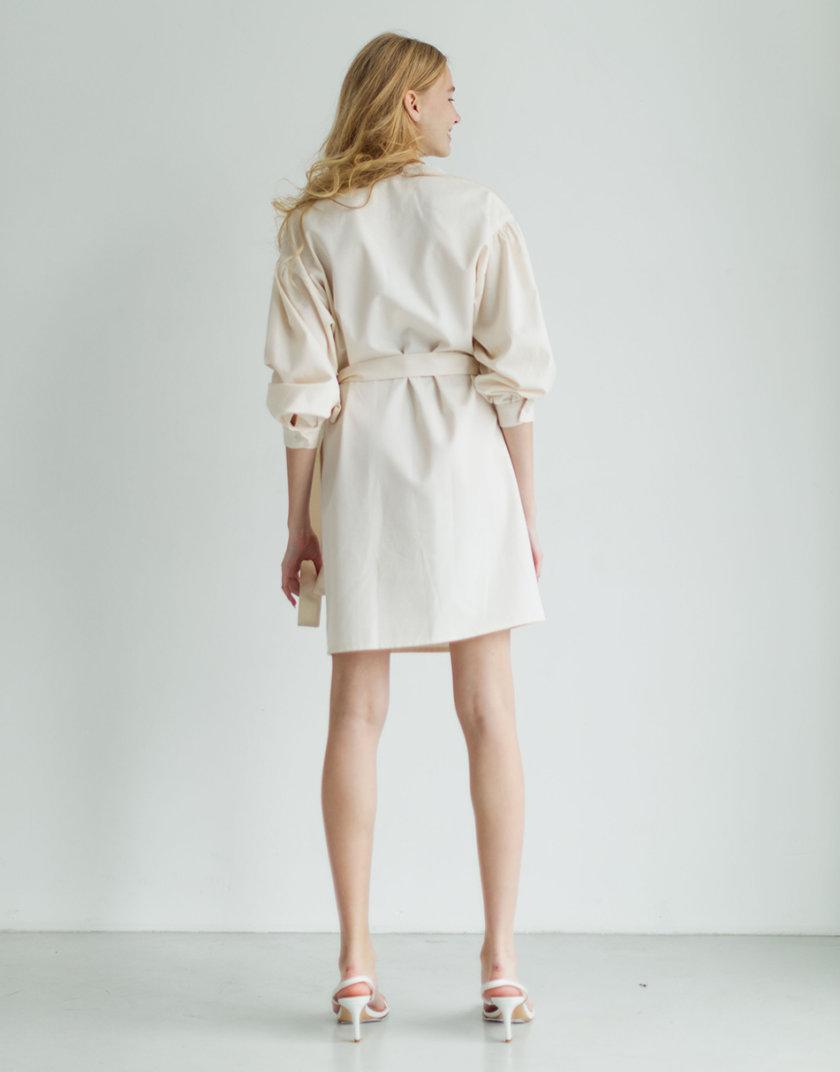 Платье с вышивкой из органического хлопка PURE_PO_SS21_14, фото 1 - в интернет магазине KAPSULA