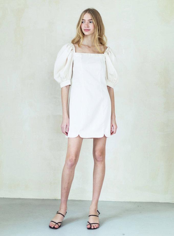 Платье из органического хлопка с буфами PURE_PO_SS21_15, фото 1 - в интернет магазине KAPSULA