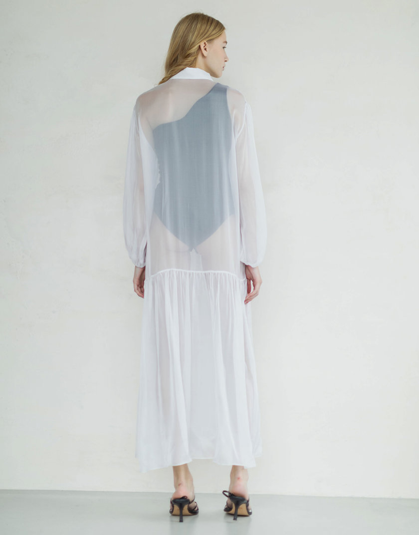 Платье из органического мирного шелка PURE_PO_SS21_2, фото 1 - в интернет магазине KAPSULA