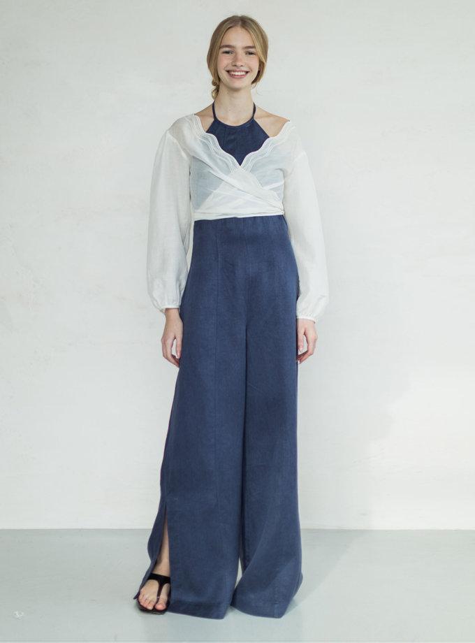 Блуза на запах из мирного шелка PURE_PO_SS21_8, фото 1 - в интернет магазине KAPSULA