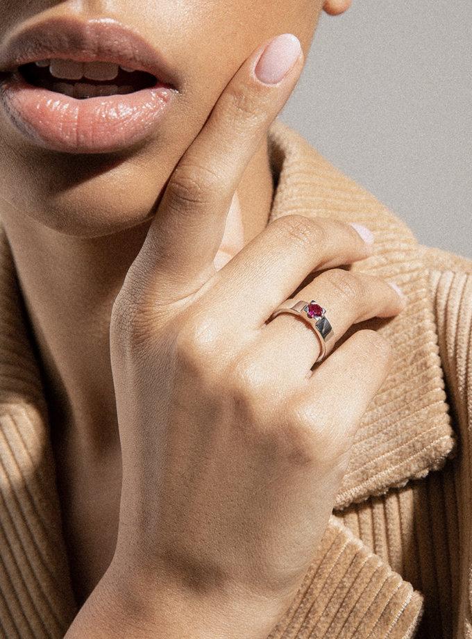 Кольцо из серебра R-8142, фото 1 - в интернет магазине KAPSULA