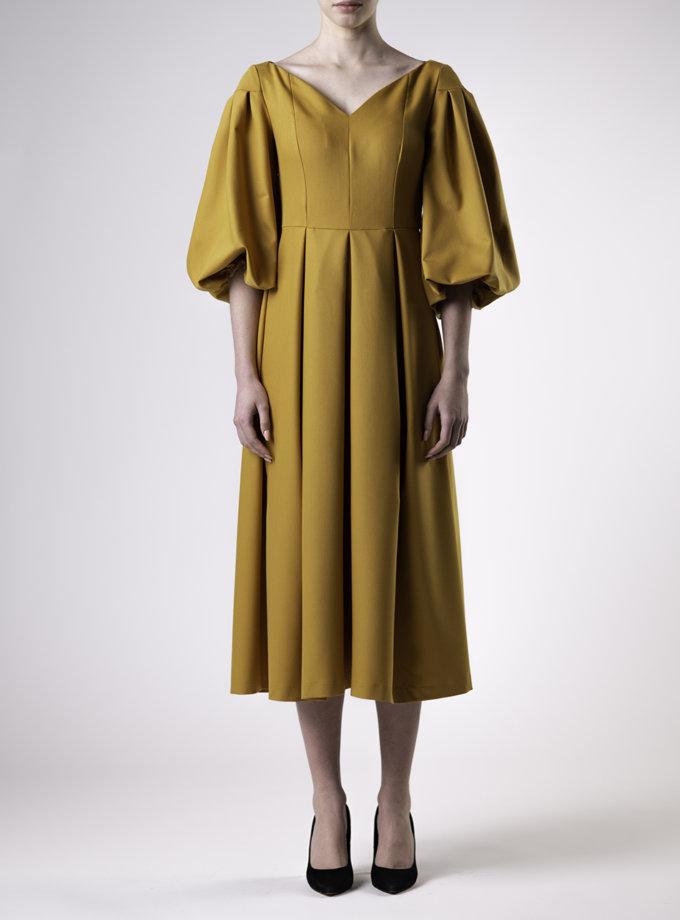 Платье миди с V-образным вырезом ALOT_100462, фото 1 - в интернет магазине KAPSULA