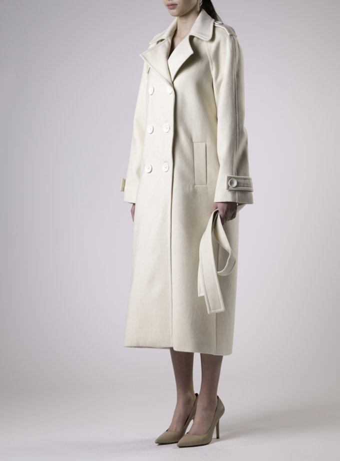 Двубортное пальто свободного кроя ALOT_500245, фото 1 - в интернет магазине KAPSULA