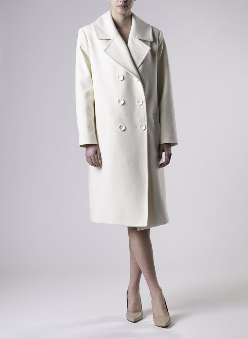 Двубортное пальто с отложным воротником ALOT_500243, фото 1 - в интернет магазине KAPSULA