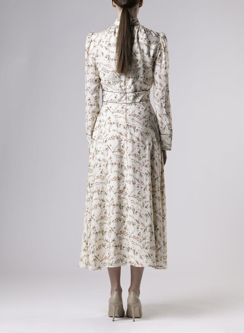 Платье миди в цветочный принт ALOT_100480, фото 1 - в интернет магазине KAPSULA