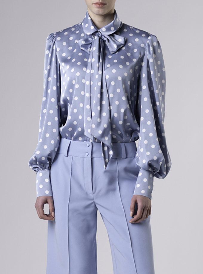 Блузка в горох ALOT_020230, фото 1 - в интернет магазине KAPSULA
