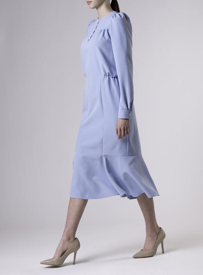 Приталенное платье миди ALOT_100475, фото 1 - в интернет магазине KAPSULA