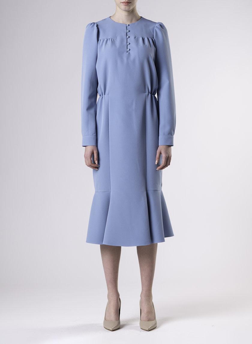 Приталенное платье миди ALOT_100465, фото 1 - в интернет магазине KAPSULA