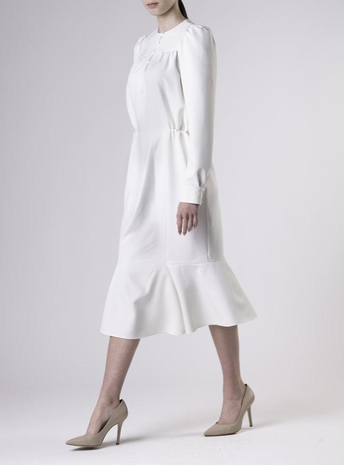 Приталенное платье миди ALOT_100466, фото 1 - в интернет магазине KAPSULA