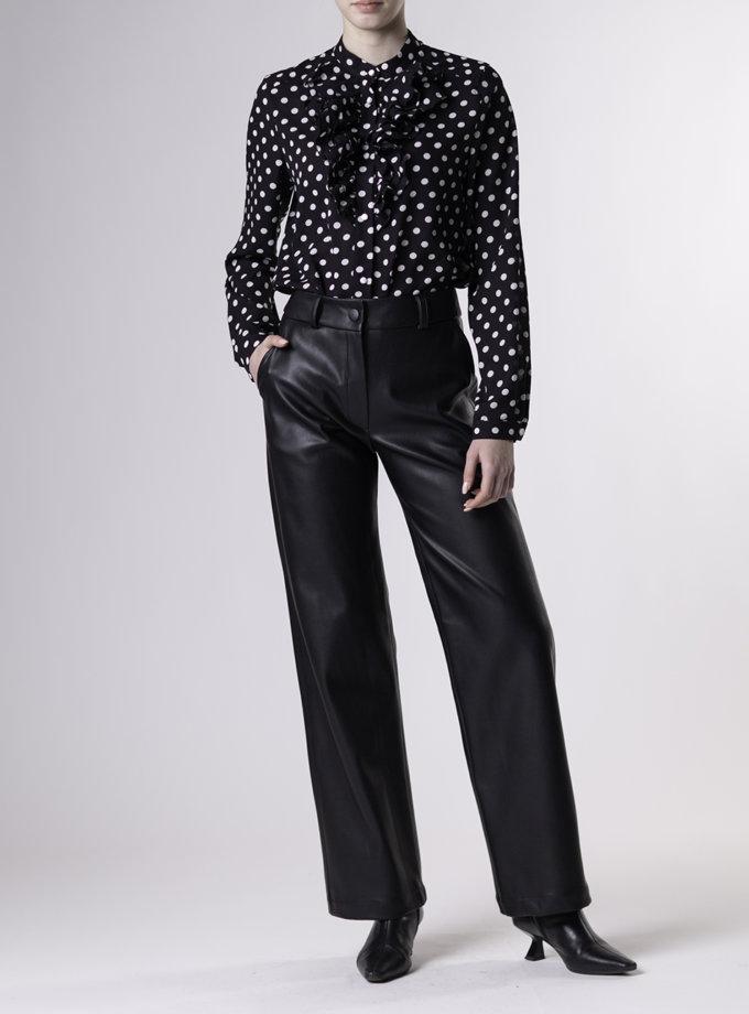 Прямые брюки из эко-кожи ALOT_030147, фото 1 - в интернет магазине KAPSULA