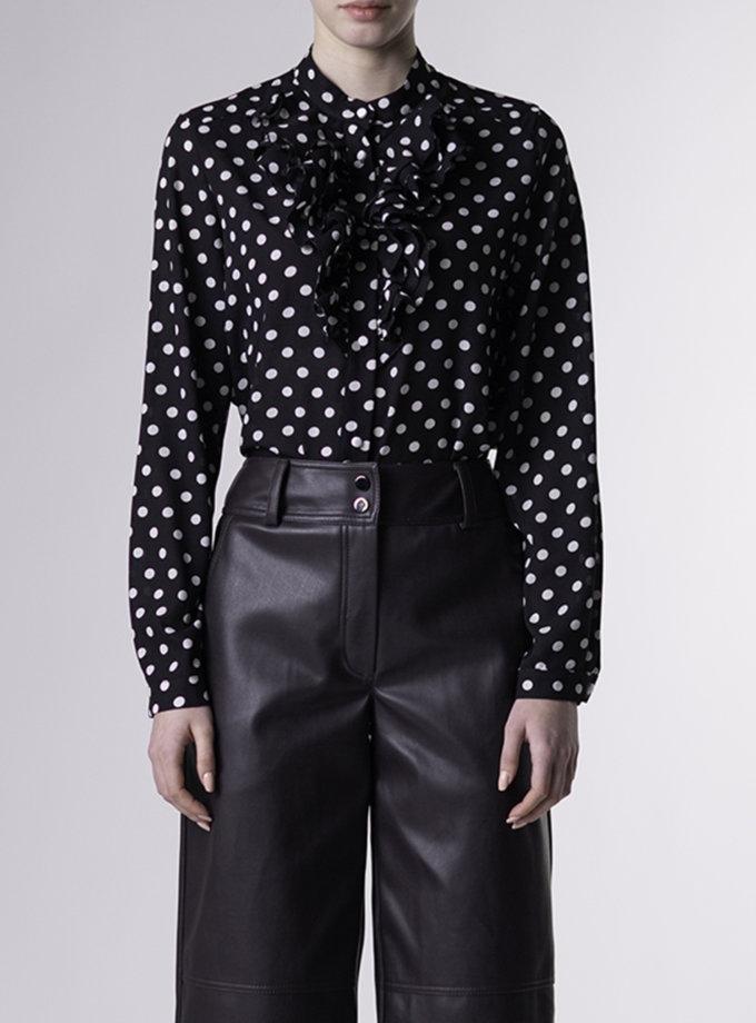 Блузка в горох ALOT_020231, фото 1 - в интернет магазине KAPSULA