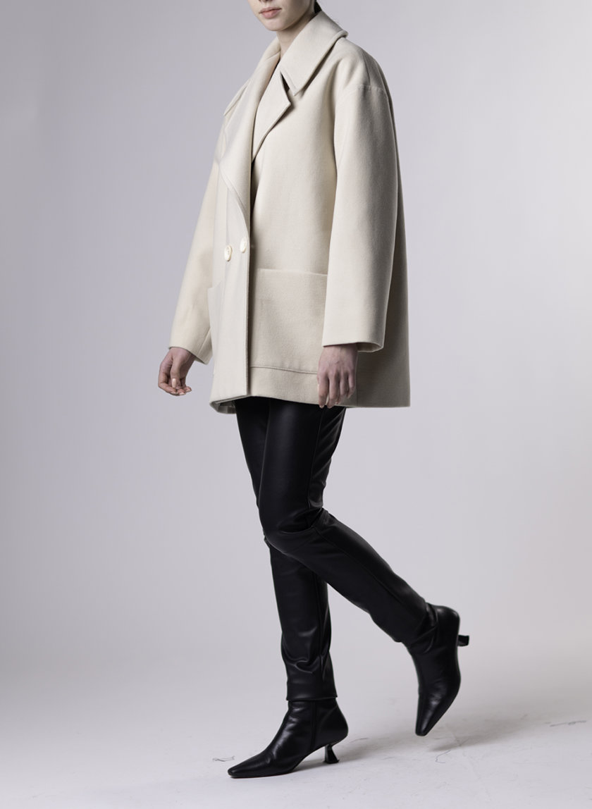 Короткое пальто с отложным воротником ALOT_500244, фото 1 - в интернет магазине KAPSULA