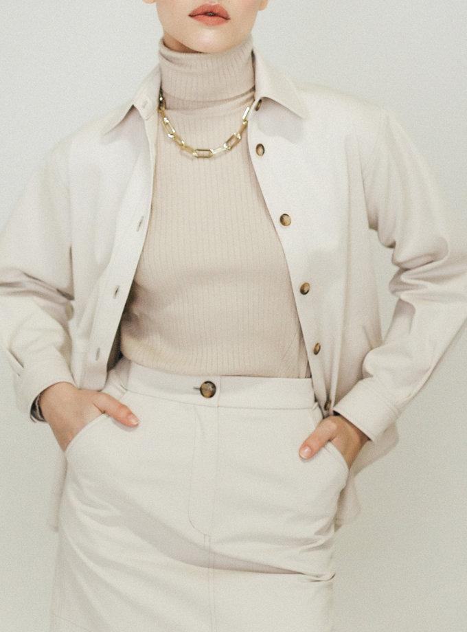 Хлопковая рубашка с карманами PDH_SS20_0003_1, фото 1 - в интернет магазине KAPSULA