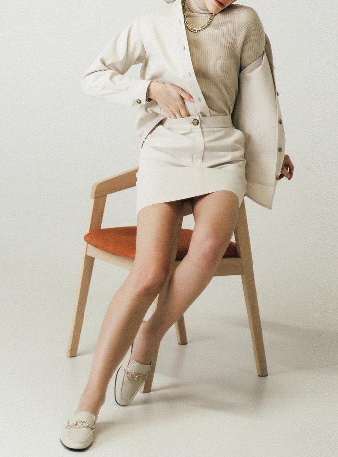 Хлопковая юбка мини PDH_SS20_0004_1, фото 1 - в интернет магазине KAPSULA