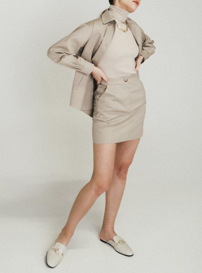 Хлопковая юбка мини PDH_SS20_0004_2, фото 1 - в интернет магазине KAPSULA