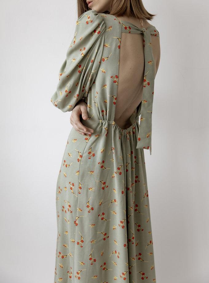 Платье с открытой спиной Haki SNDR_SSR19-haki, фото 1 - в интернет магазине KAPSULA
