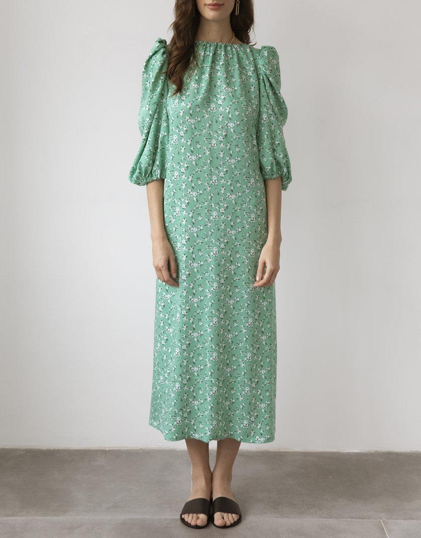 Платье с открытой спиной Mentol SNDR_SSR19-mentol, фото 1 - в интернет магазине KAPSULA
