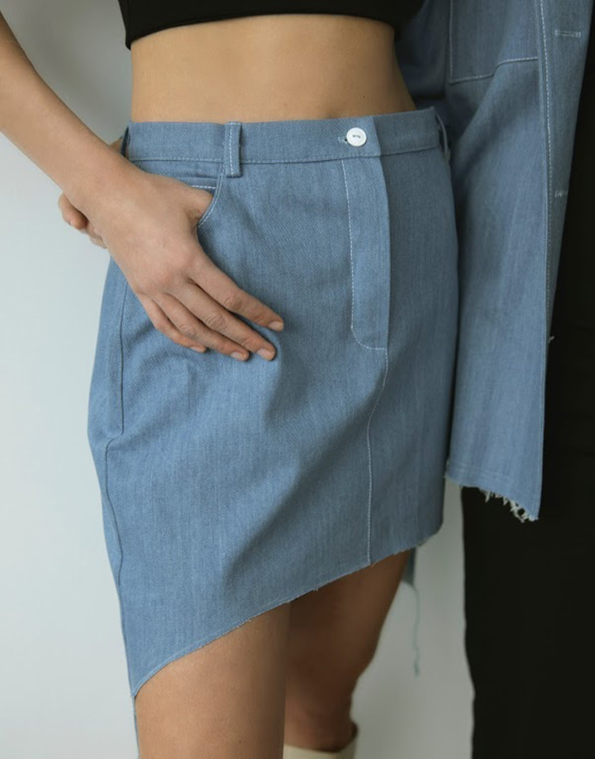 Джинсовая юбка REAL SNDR_SSR9, фото 1 - в интернет магазине KAPSULA