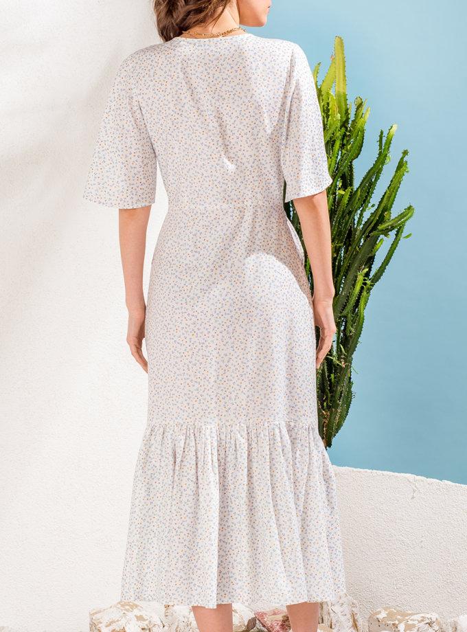 Платье с воланом на пуговицах KS_SS24_41, фото 1 - в интернет магазине KAPSULA