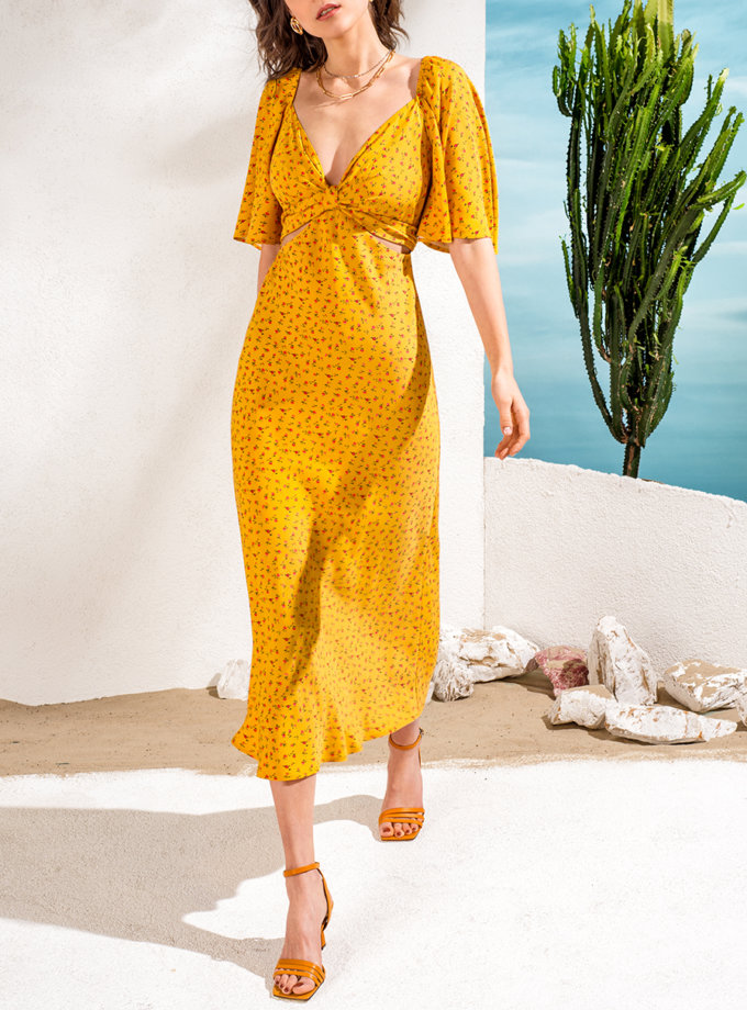 Платье в цветочный принт Rose KS_SS24_33, фото 1 - в интернет магазине KAPSULA