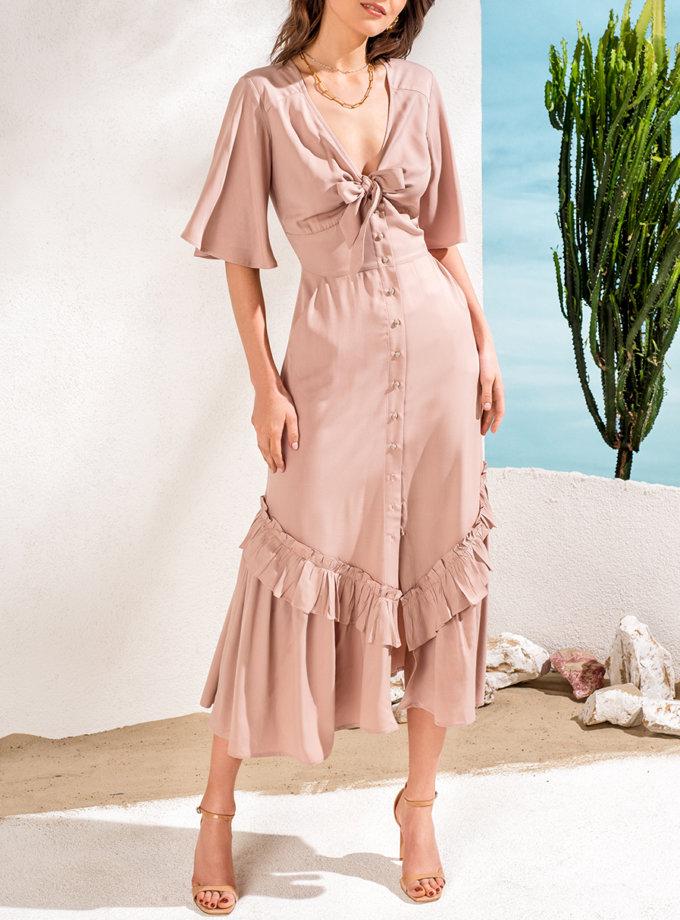 Платье с двойным воланом KS_SS24_39, фото 1 - в интернет магазине KAPSULA