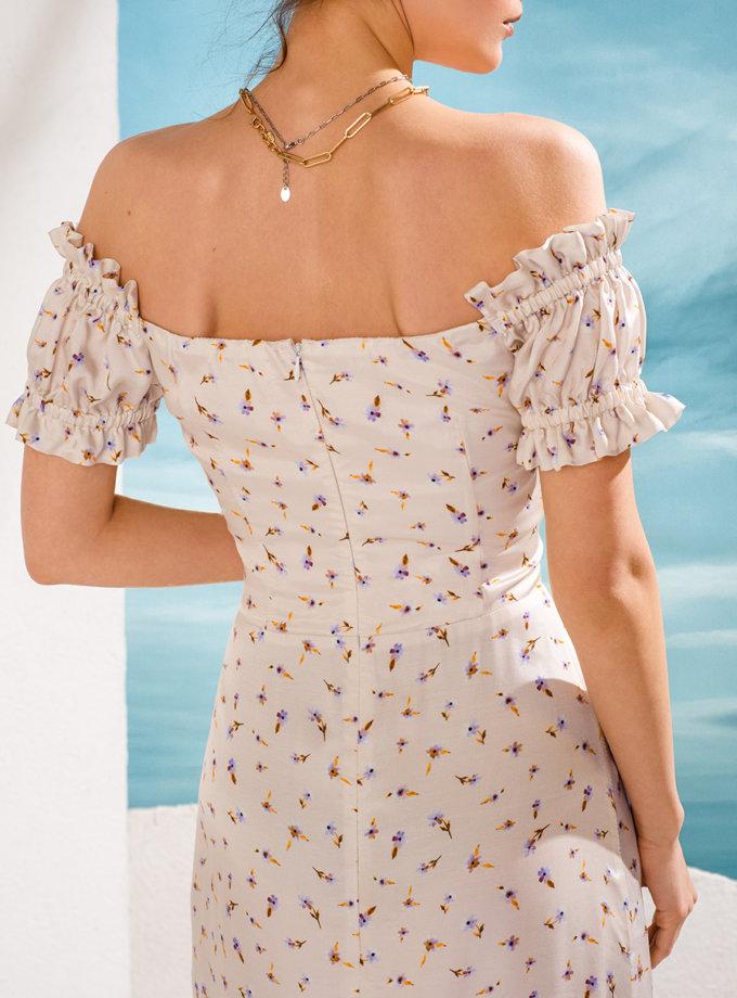 Шелковое платье миди KS_SS24_13, фото 1 - в интернет магазине KAPSULA