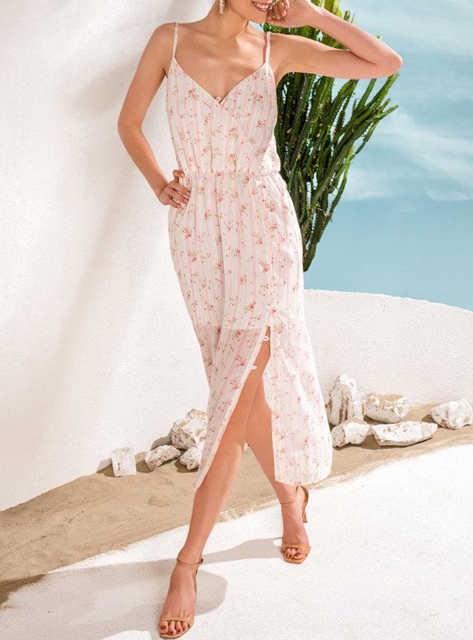 Шифоновое платье в цветы KS_SS24_28, фото 1 - в интернет магазине KAPSULA