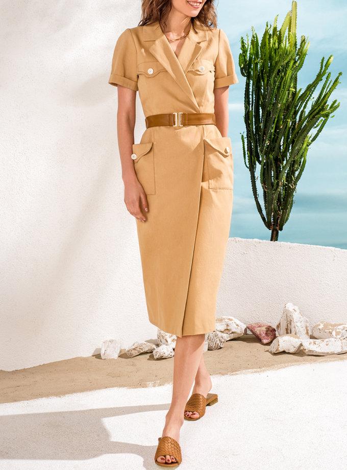 Джинсовое платье с карманами KS_SS24_08, фото 1 - в интернет магазине KAPSULA