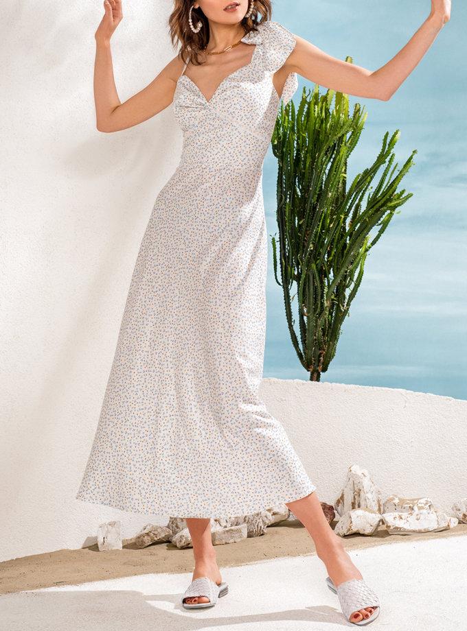 Платье с кружевом на бретелях KS_SS24_10, фото 1 - в интернет магазине KAPSULA