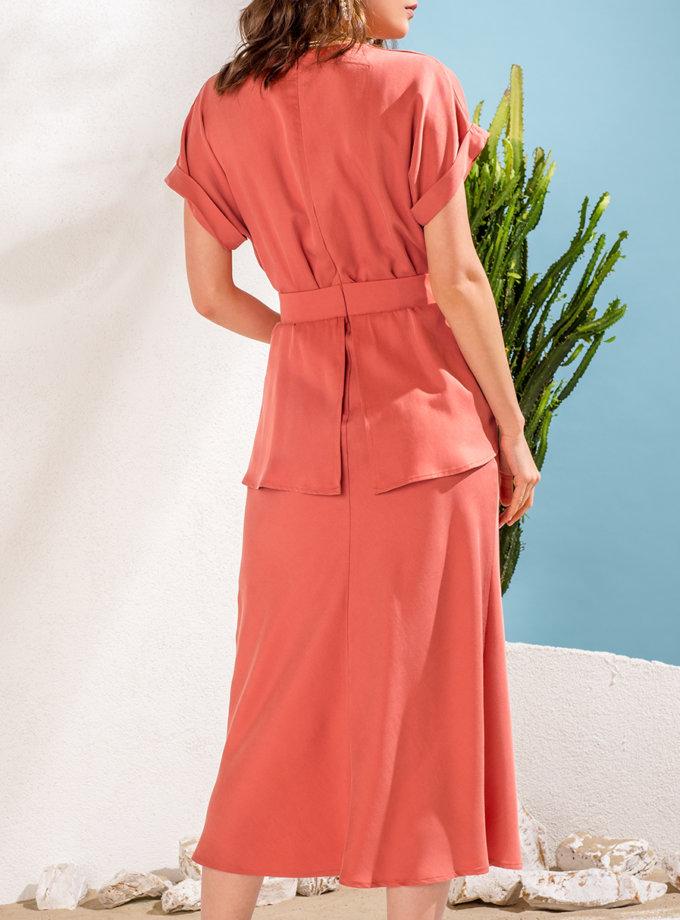 Платье с баской KS_SS24_35, фото 1 - в интернет магазине KAPSULA