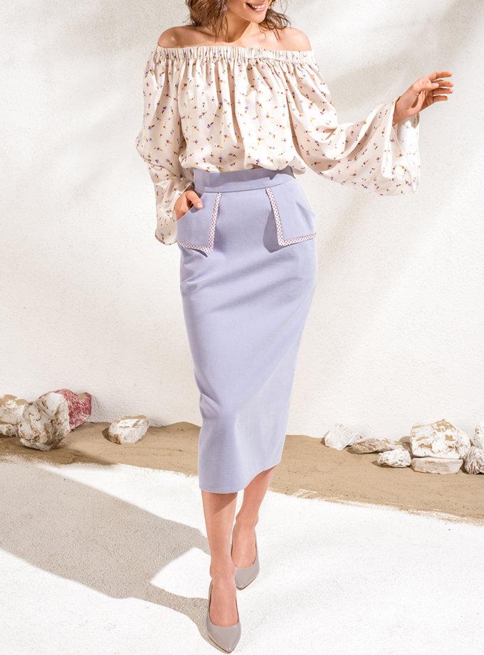 Хлопковая юбка миди KS_SS24_15, фото 1 - в интернет магазине KAPSULA