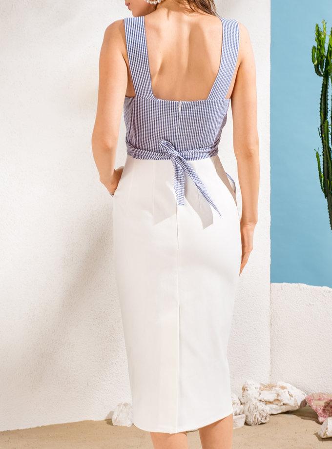 Платье с контрастным лифом KS_SS24_37, фото 1 - в интернет магазине KAPSULA