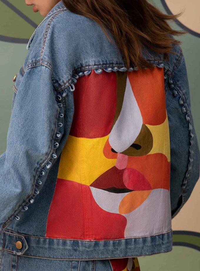 Джинсовая куртка с рисунком ARS_SS21-1, фото 1 - в интернет магазине KAPSULA