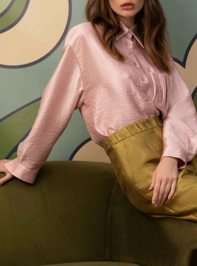 Блуза на пуговицах ARS_SS21-13, фото 1 - в интернет магазине KAPSULA