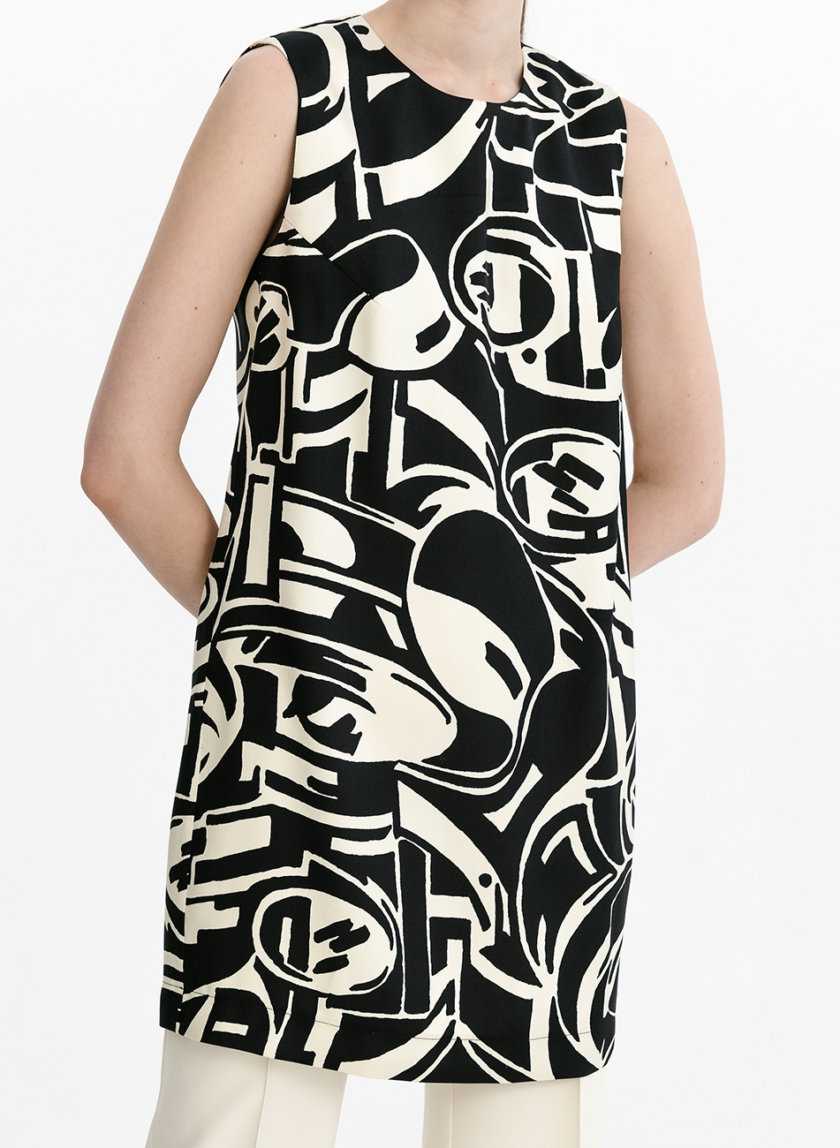 Шелковое платье-туника SHKO_21009001, фото 1 - в интернет магазине KAPSULA