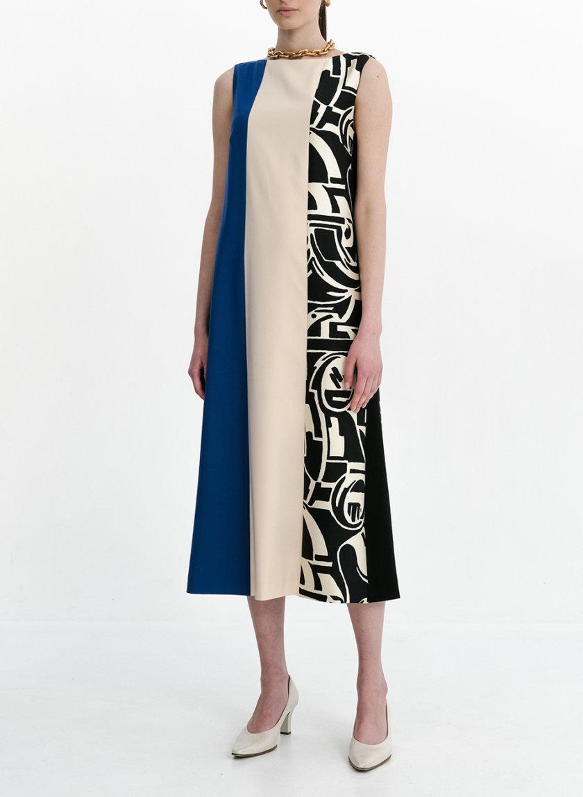 Комбинированное платье миди SHKO_21002002, фото 1 - в интернет магазине KAPSULA