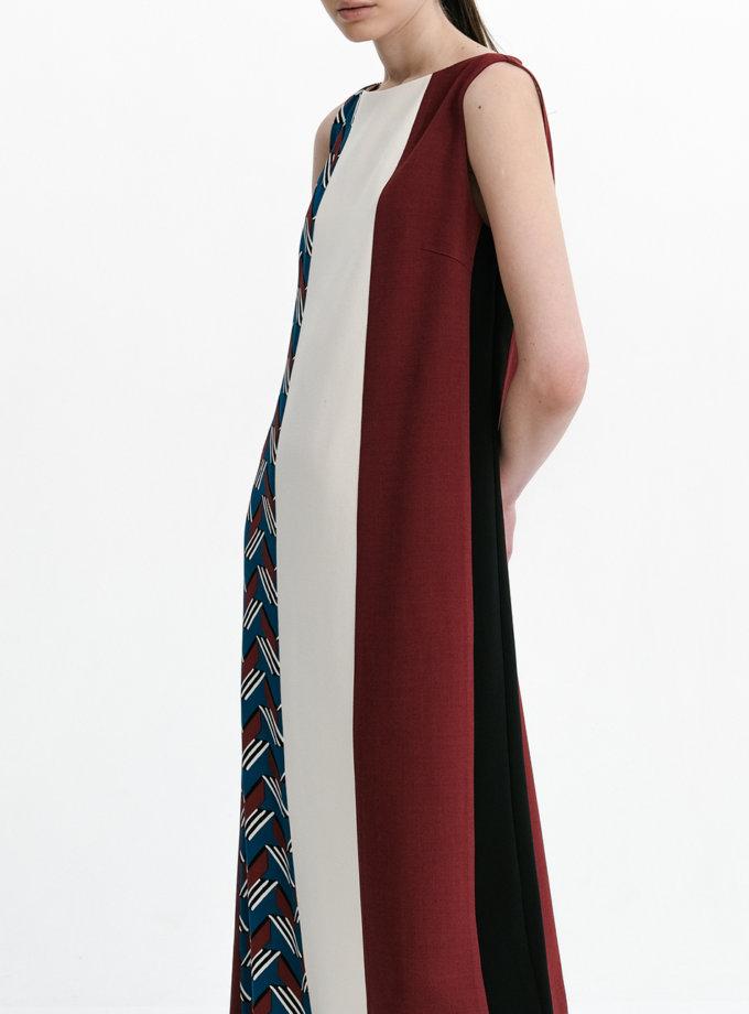 Комбинированное платье миди SHKO_21002001, фото 1 - в интернет магазине KAPSULA