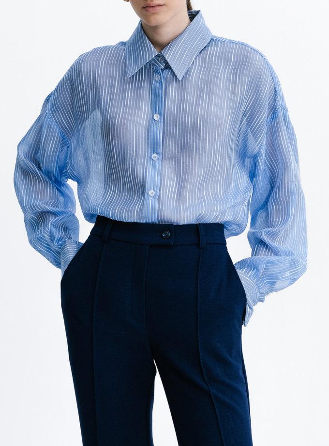 Шелковая рубашка Oversize SHKO_21005003, фото 1 - в интернет магазине KAPSULA