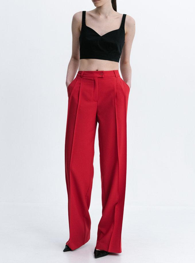 Широкие брюки со стрелками SHKO_21004003, фото 1 - в интернет магазине KAPSULA
