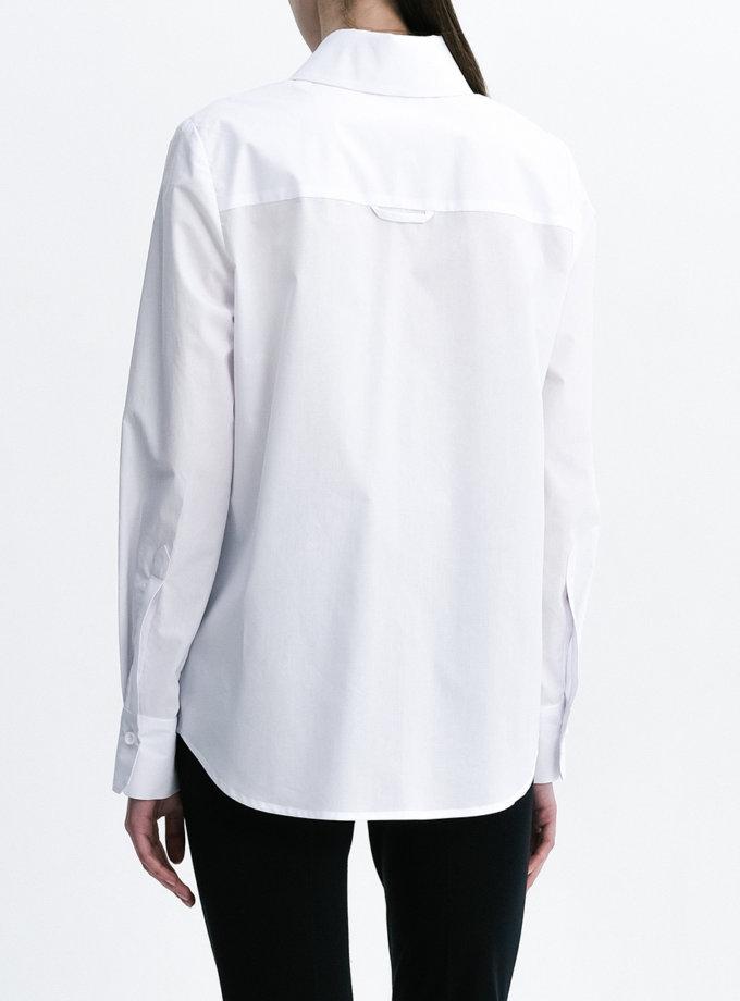 Хлопковая рубашка с карманом SHKO_21011001, фото 1 - в интернет магазине KAPSULA