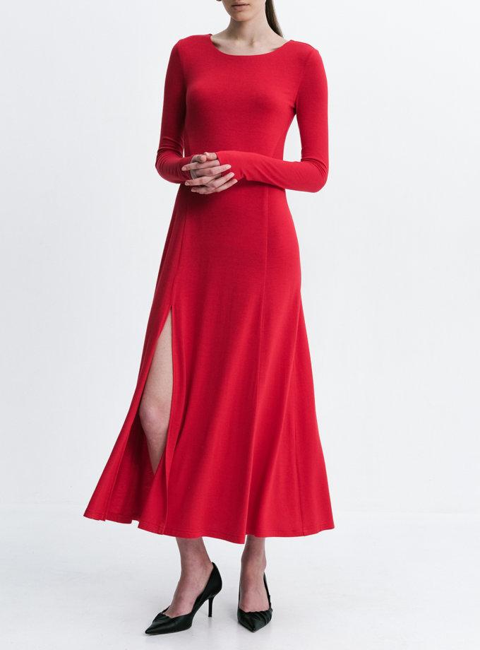 Платье макси с разрезами SHKO_21010001, фото 1 - в интернет магазине KAPSULA