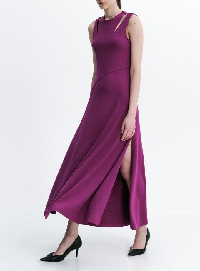 Платье макси с разрезами SHKO_20038001, фото 1 - в интернет магазине KAPSULA
