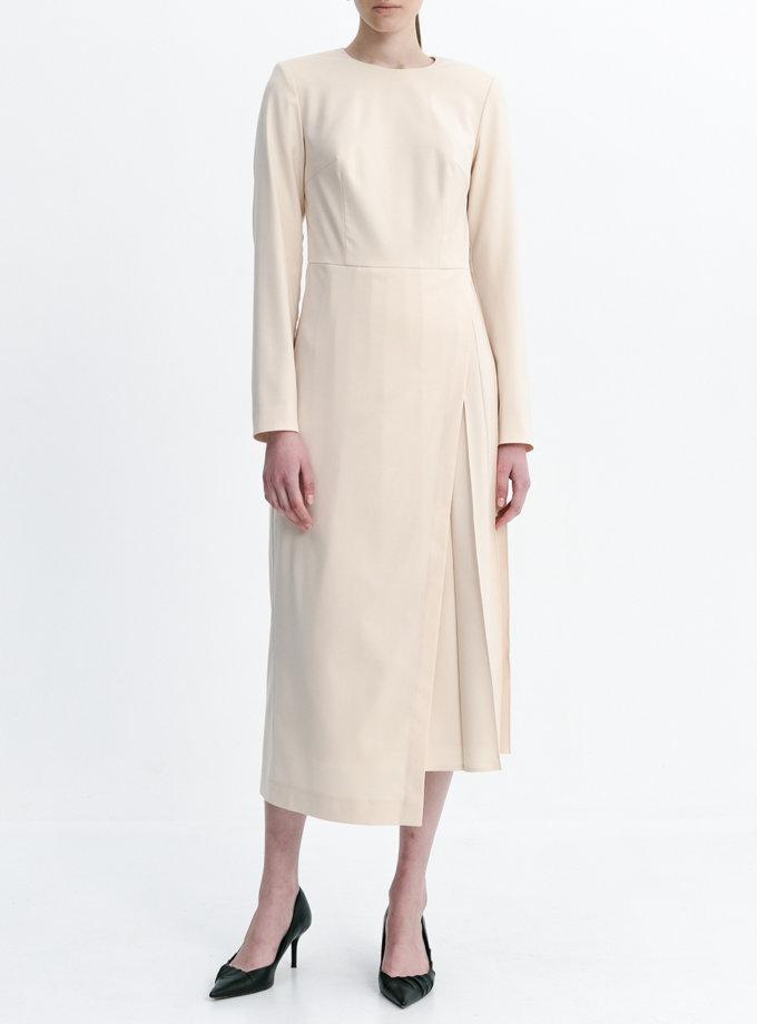 Платье с вставкой плиссе SHKO_20035003, фото 1 - в интернет магазине KAPSULA