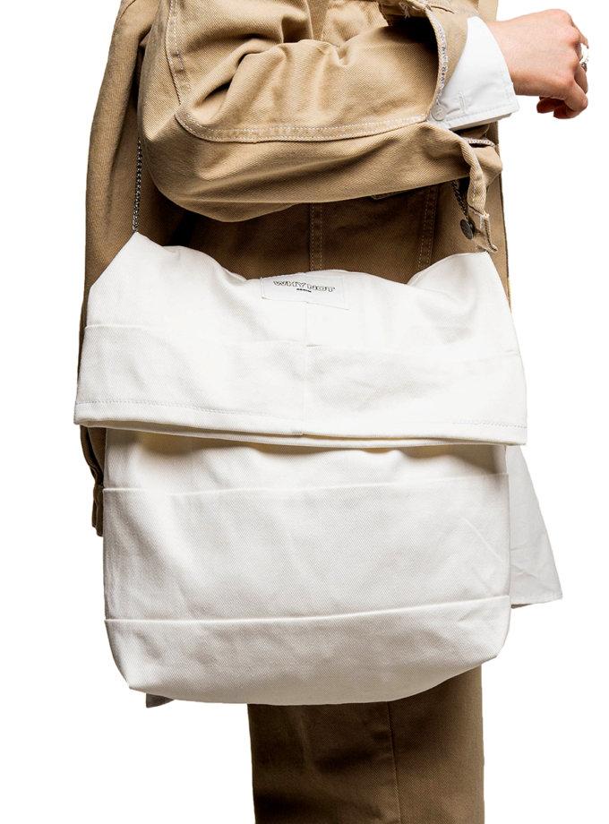 Джинсовая сумка WNDM_sp21-bg-white-os, фото 1 - в интернет магазине KAPSULA