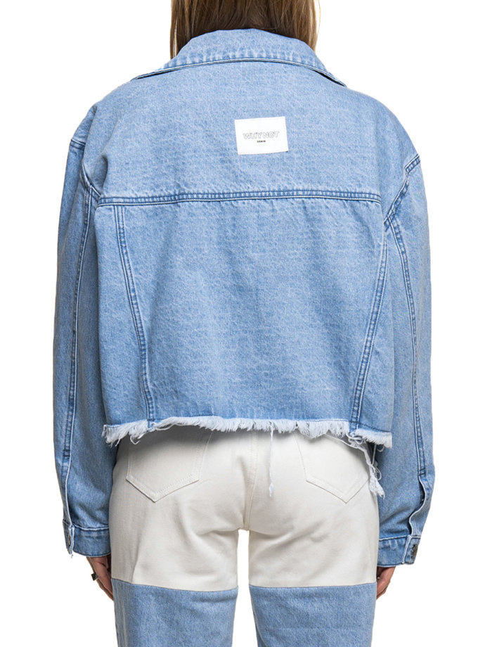 Укороченная джинсовая куртка-бомбер WNDM_sp21-jct-blue-os, фото 1 - в интернет магазине KAPSULA