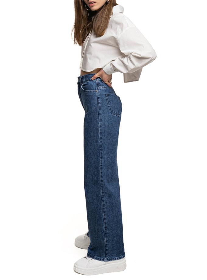 Широкие джинсы из хлопка WNDM_sp21-jns0-darkblue, фото 1 - в интернет магазине KAPSULA