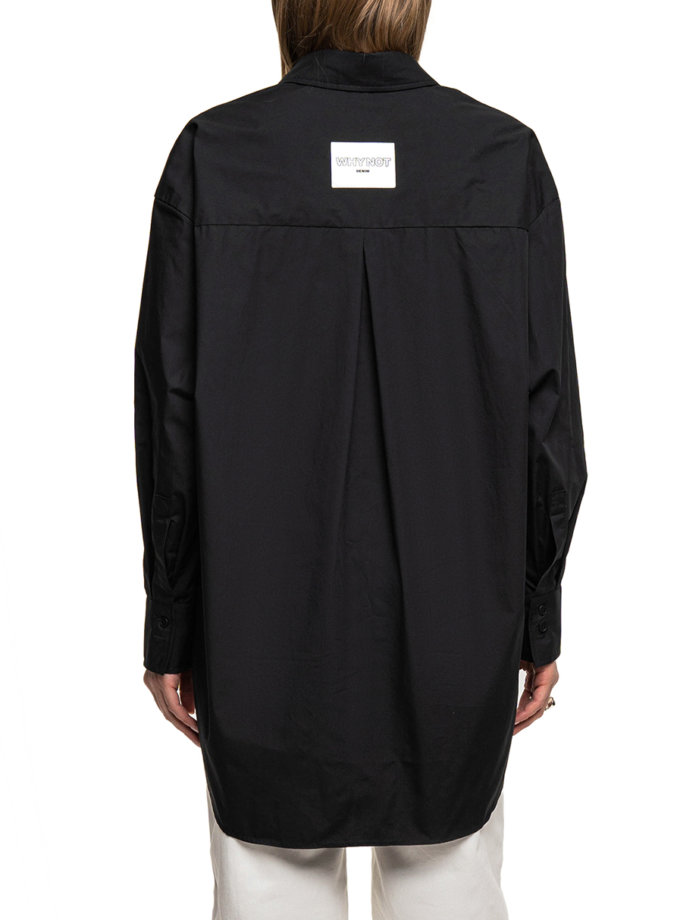 Хлопковая рубашка WNDM_sp21-shr-black-os, фото 1 - в интернет магазине KAPSULA